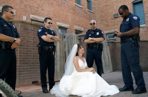 Arrested for Trashing the Dress?????????????